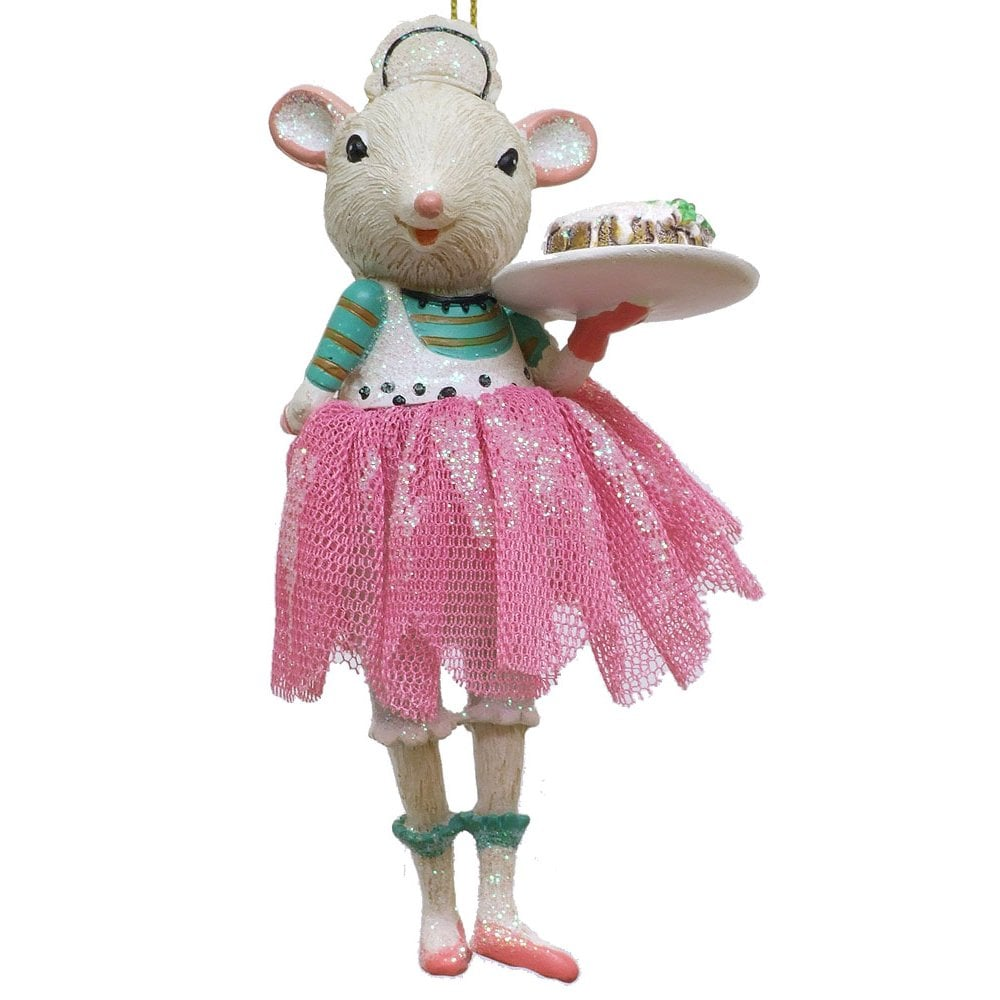 christmas decoration 11863 b ring mouse ballerina