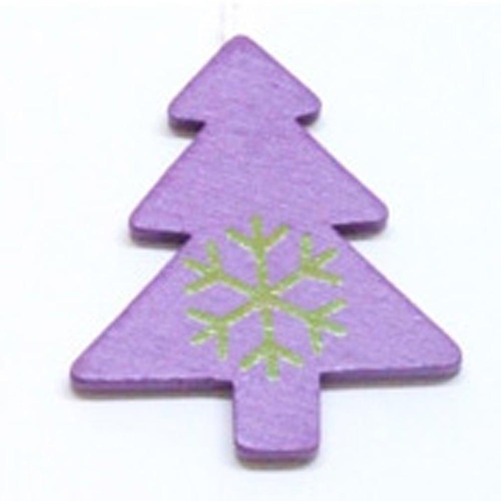 Gisela Graham Christmas Tree Decoration 172901 Tree Purple Gisela