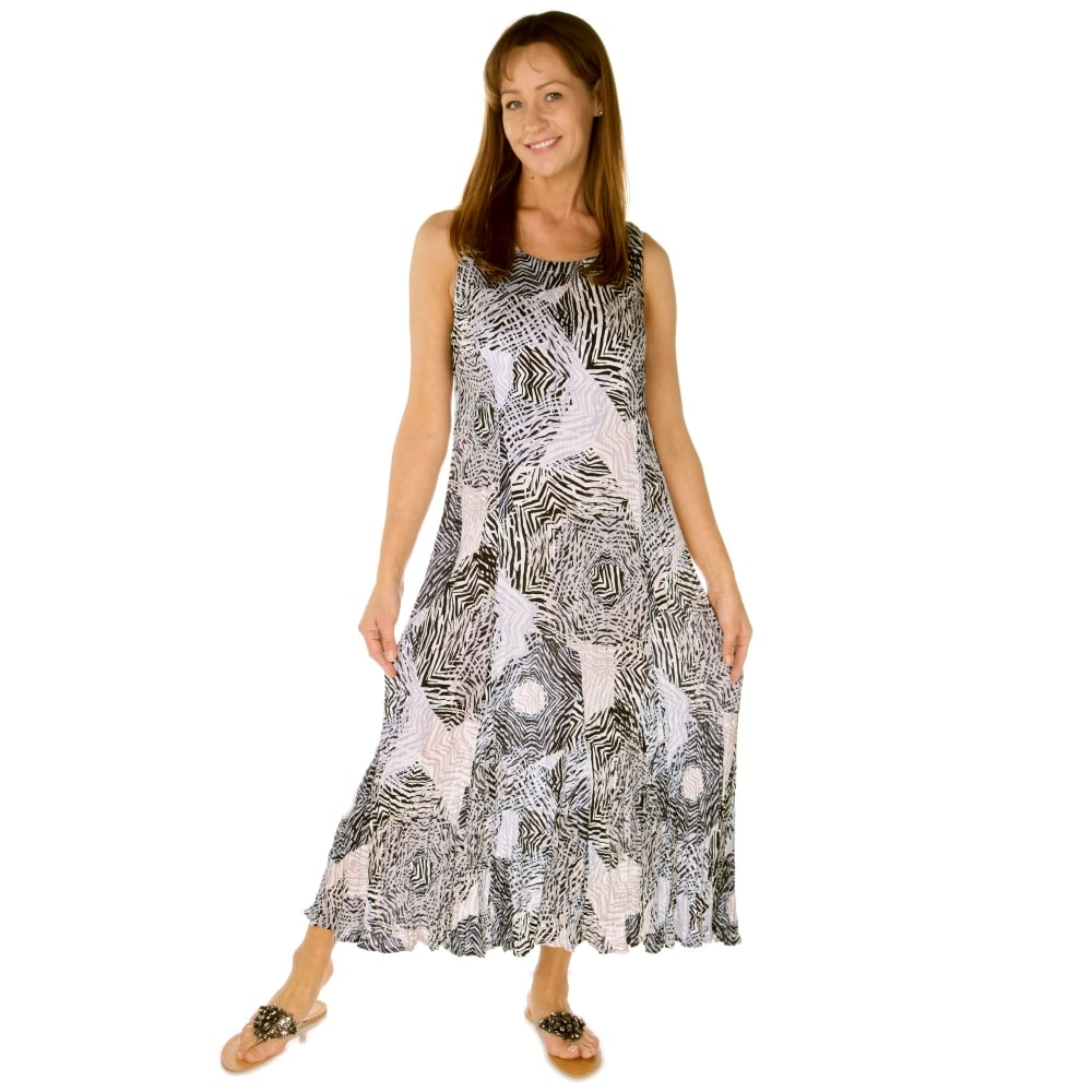 647e27873fc Adini Dress 81445ZR Blue and Grey - Womens from Ahernes of Hellifield UK