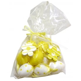 Easter Decoration 80548 Bag of Yellow Eggs