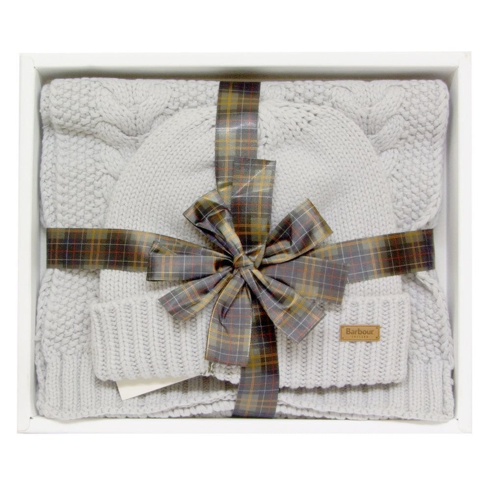 BARBOUR Hat and Scarf Set LAC0142GY111 Grey - Womens from Ahernes of ... 462d1eed6dc